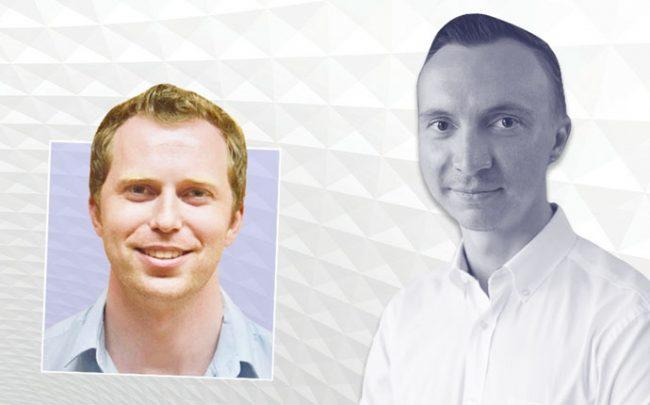 From left: Martin Greenberg CEO & Co-Founder of Bedly and Sergii Starostin, Founder and CEO of Outpost Club