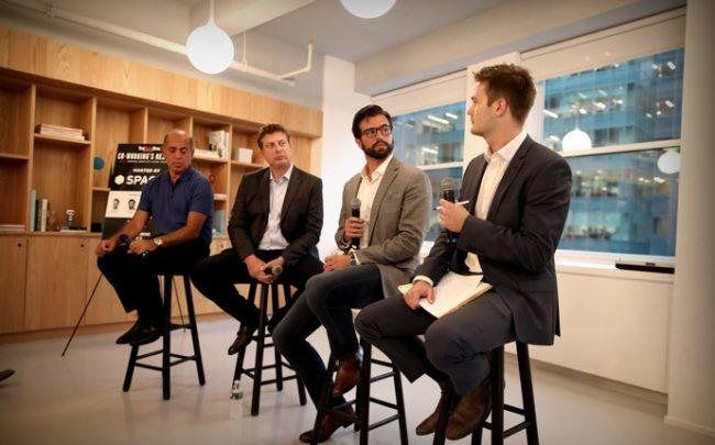 Left to right: Richard Beyda of The Yard, Michael Barretta of IWG, Nick Livigne of Convene, and The Real Deal's David Jeans (Credit: Griffin Meyer)