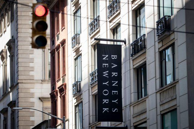 Barney's signage at its 660 Madison Avenue flagship location (Credit: Getty Images)
