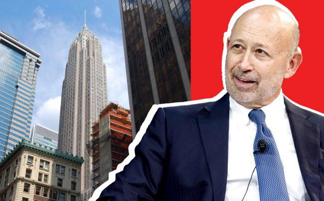 70 Pine Street and Goldman Sachs chairman Lloyd Blankfein (Credit: Wikipedia and Getty Images)