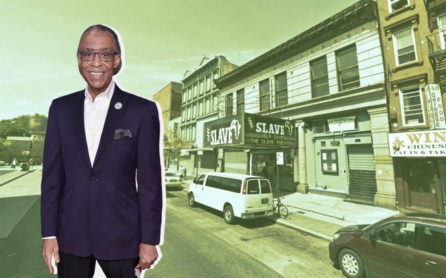 Reverend Al Sharpton and 1215 Fulton Street (Credit: Getty Images and Google Maps)