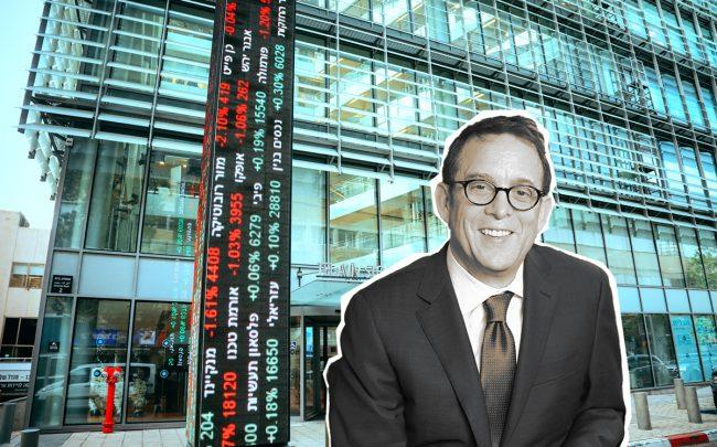 Lightstone Group Chairman and CEO David Lichtenstein and the Tel Aviv Stock Exchange (Credit: Lightstone and iStock)