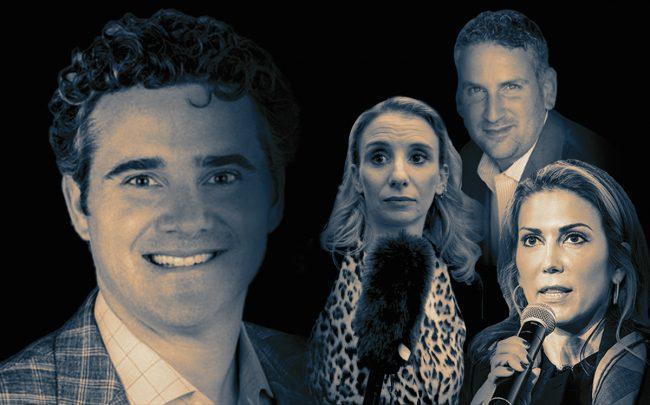 From left: Zillow's Matt Daimler, Bohemia Realty's Sarah Saltzberg, Douglas Elliman's Hal Gavzie and Brown Harris Stevens' Bess Freedman (Credit: Facebook and Twitter)