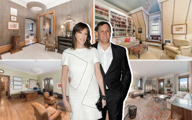 Jane Rosenthal and Craig Hatkoff with 1 West 72nd Street (Credit: Getty Images and StreetEasy)