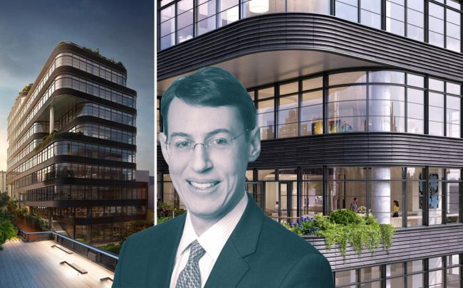 Vornado president Michael Franco and 512 West 22nd Street (Credit: VNO)