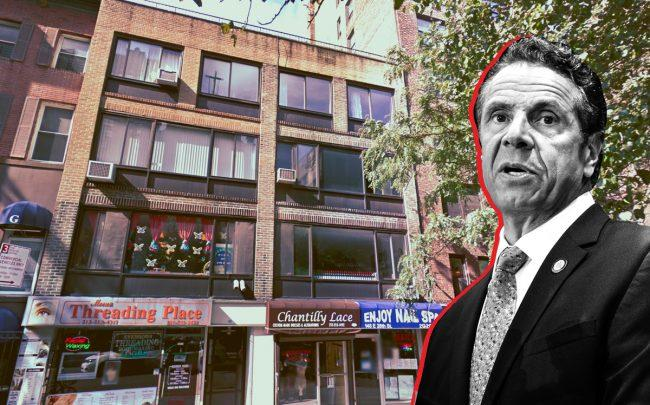 148 East 28th Street and Governor Andrew Cuomo (Credit: Google Maps and Getty Images)