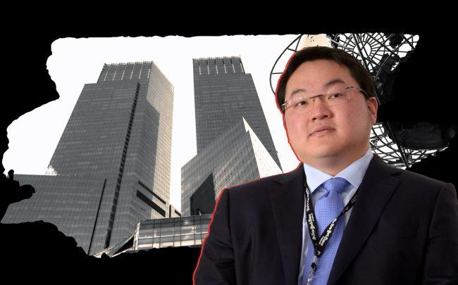 Jho Low and the Time Warner Center at 25 Columbus Circle (Credit: Getty Images)