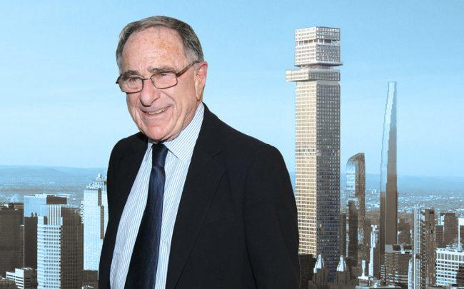 A rendering of Tower Fifth with Harry Macklowe (Credit: Getty Images)