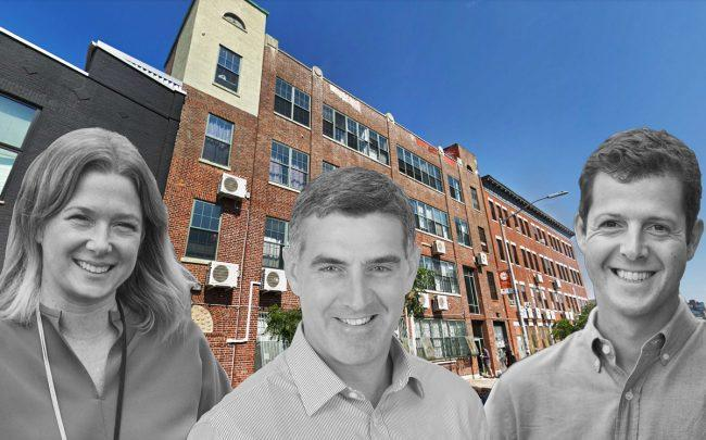 239 Banker Street and, from left: Workable City's Sara Willard, Rabina Properties' Josh Rabina and Workable City's Adam Heller