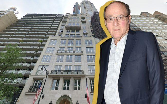 David Mandelbaum and 220 Central Park South (Credit: Google Maps, Patrick McMullan/Patrick McMullan via Getty Images)