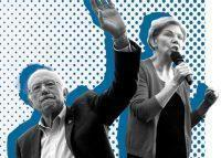 Alexandria Ocasio-Cortez, Bernie Sanders and Elizabeth Warren