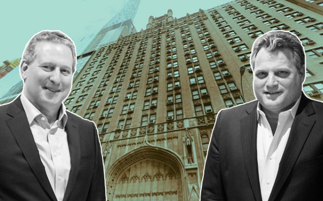 Alchemy ABR's Kenneth Horn and Brian Ray with 123-141 West 57th St (Credit: Alchemy ABR and Google Maps)