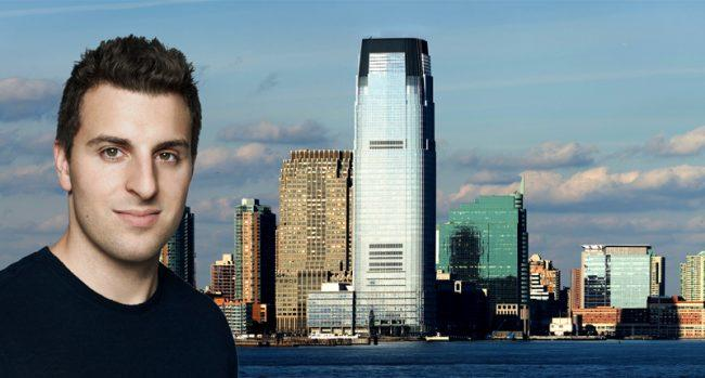 Airbnb CEO Brian Chesky and Jersey City (Credit: Wikipedia)
