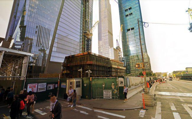 The construction site of 50 Hudson Yards (Credit: Google Maps)