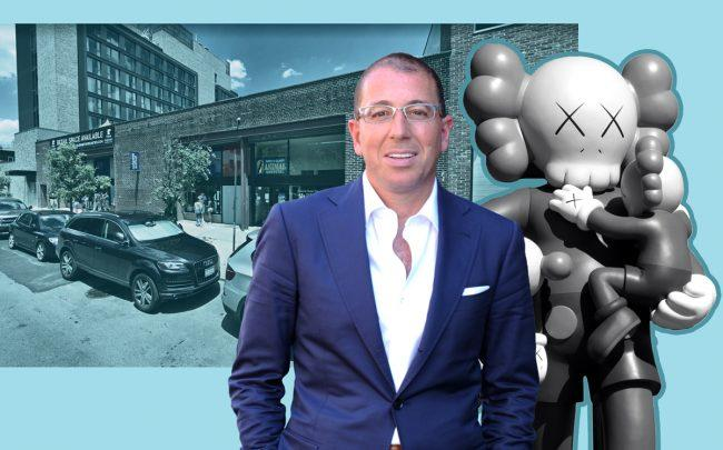 93 North 9th Street in Williamsburg, Thor Equities' Joe Sitt, and a KAWS statue (Credit: Google Maps and Jim Bowen via Flickr)