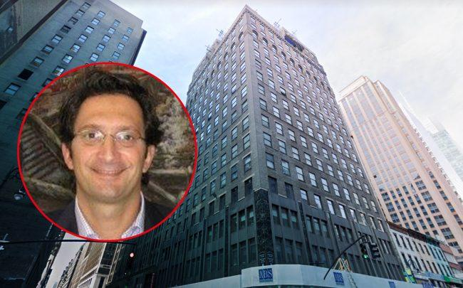 Corporate Suites CEO Hayim Grant and 1001 Sixth Avenue (Credit: Facebook and Google Maps)