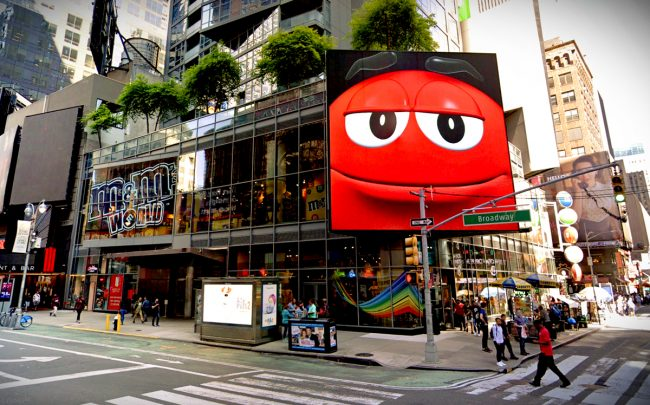 The M&M's store at 1600 Broadway (Credit: Google Maps)