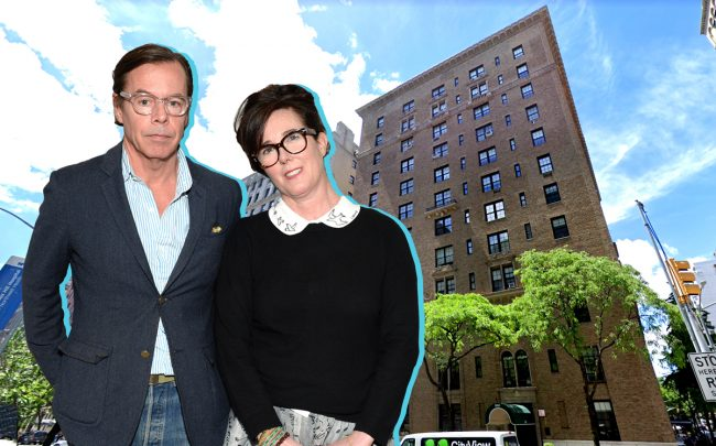 Andy and Kate Spade with 850 Park Avenue (Credit: Getty Images and Google Maps)