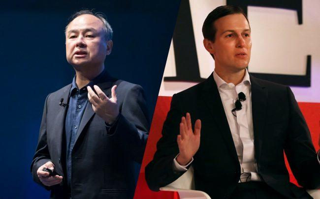 Softbank's Masayoshi Son and Jared Kushner (Credit: Getty Images)