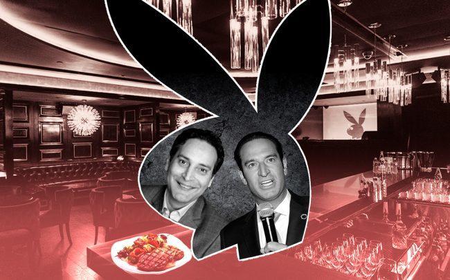Merchants Hospitality's Abraham Merchant and Adam Hochfelder with the Playboy Club (Credit: Getty Images, Playboy Club NYC)