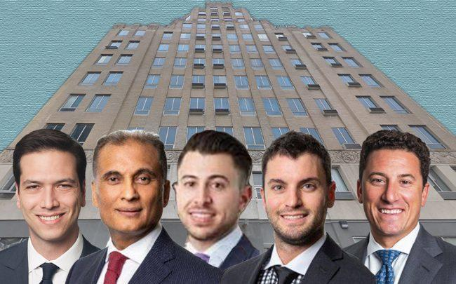 29-28 41st Street, and from left: Arik Lifshitz Amit Doshi, Adan Elias Kornfeld, Jonathan Shainberg and David Schechtman (Credit: Google Maps)