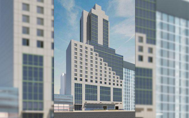 Rendering of the Staybridge Suites at 38-59 11th Street