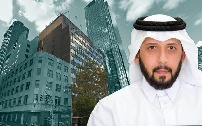 809 First Avenue and QIA CEO Mansoor Bin Ebrahim Al-Mahmoud (Credit: Google Maps)