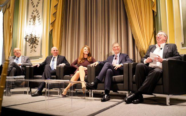 From left:Stephen Ross, Scott Rechler, Maryanne Gilmartin, Marty Burger and William Rudin (Credit: Anuja Shakya for The Real Deal)