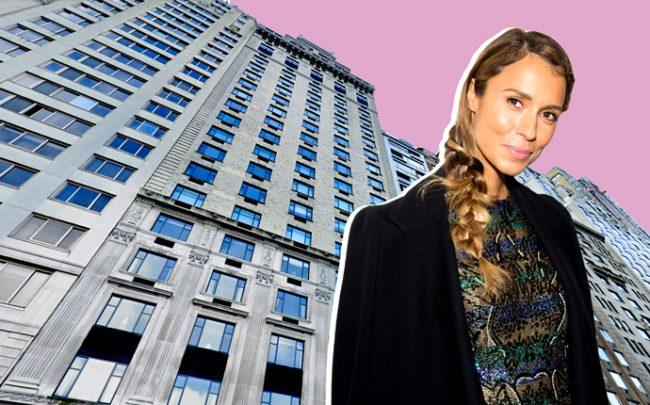 110 Central Park South and Aleksandra Melnichenko (Credit: Google Maps and Getty Images)