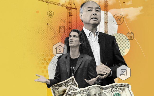 From left: WeWork's Adam Neumann and SoftBank's Masayoshi Son (Photo-Illustration by Nazario Graziano)