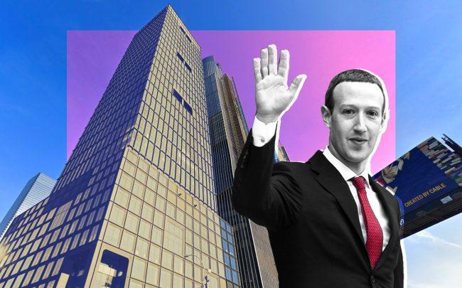 55 Hudson Yards, Facebook CEO Mark Zuckerberg (Credit: Google Maps and Getty Images)