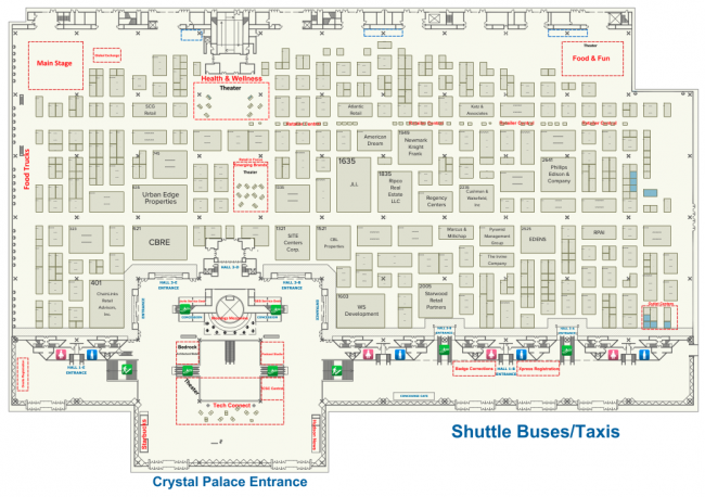 Floor plan of Level 3 at Javits. Source: ICSC