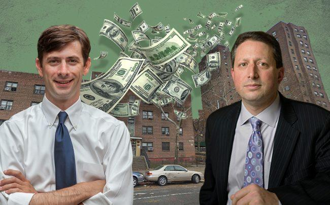 Stephen Levin, Brad Lander, 187 and 195 Hoyt Street (Credit: Google Maps, iStock)