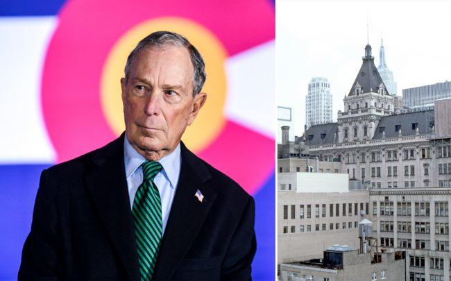 Michael Bloomberg and 229 West 43rd Street (Credit: Getty Images and Wikipedia)