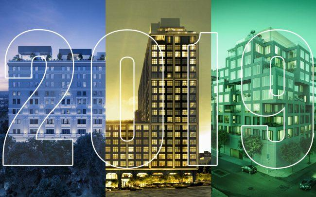 From left: renderings of 1 Propect Park West, 85 Jay Street and 98 Front Street in Brooklyn (Credit: StreetEasy)