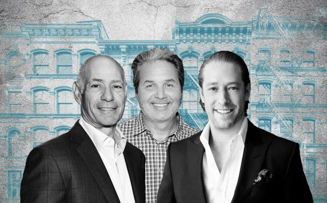 From left: Taconic Investment Partners' Charles Bendit,  Maddd Equities' Jorge Madruga and Slate Property Group's David Schwartz