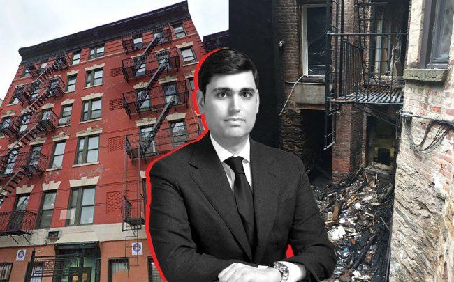 Emerald Equities' Isaac Kassirer and 244 East 117th Street (Credit: Google Maps, Emerald Equities)