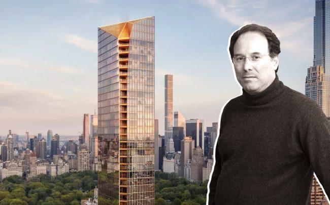 50 West 66th Street and Extell Development CEO Gary Barnett (Credit: Binyan Studios via Curbed NY)