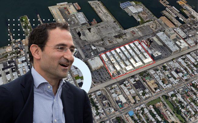 Blackstone's Jonathan Gray and an aerial of Industry City (Credit: Getty Images and Google Maps)