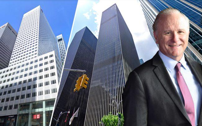 666 Fifth Avenue, 1251 Sixth Avenue and Mitsui Fudosan America's John Chesterfield (Credit: Google Maps, Getty Images)
