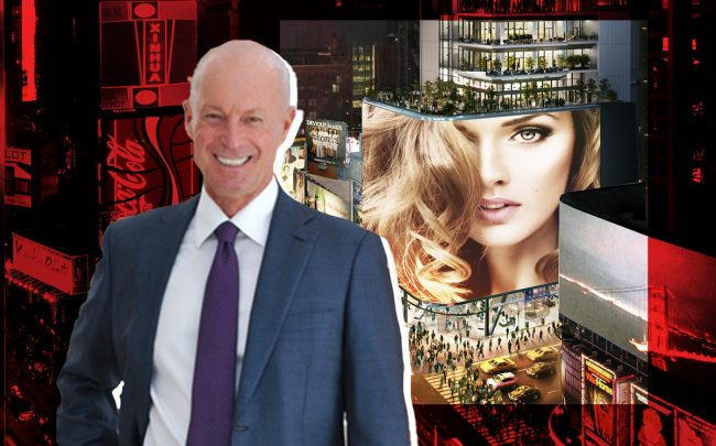Maefield Development's Mark Siffin and 20 Times Square (Credit: Maefield)