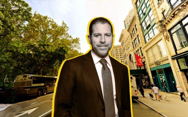 14-16 Fifth Avenue along Madison Square Park and Madison Realty Capital's Josh Zegen (Credit: Google Maps)