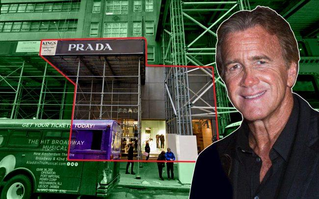 Jeff Sutton and the Prada storefront at 724 Fifth Avenue (Credit: Google Maps)