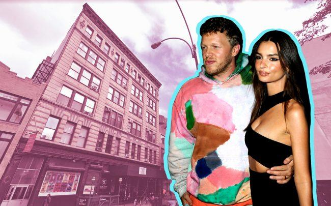 Sebastian Bear-McClard and Emily Ratajkowski with 49 Bleecker Street (Credit: Getty Images and Google Maps)