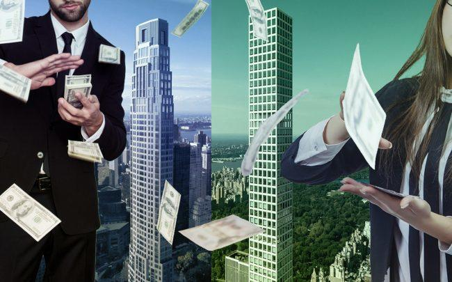 220 Central Park South and 423 Park Avenue (Credit: iStock and StreetEasy)