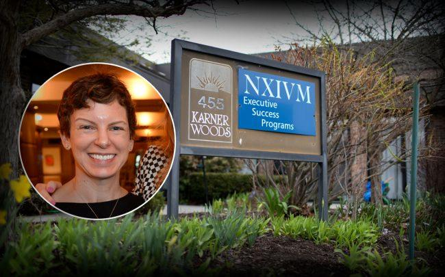 Sara Bronfman-Igtet and the NXIVM Executive Success Programs headquarters at 455 New Karner Road, Colonie (Credit: Getty Images)