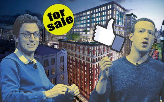 225 Park Avenue South, Buzzfeed CEO Jonah Peretti and Facebook CEO Mark Zuckerberg (Credit: Getty Images)