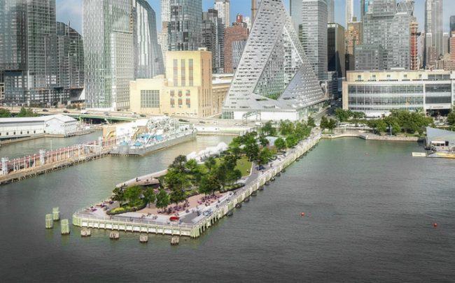 A rendering of Pier 97 (Credit: Hudson River Park Trust)
