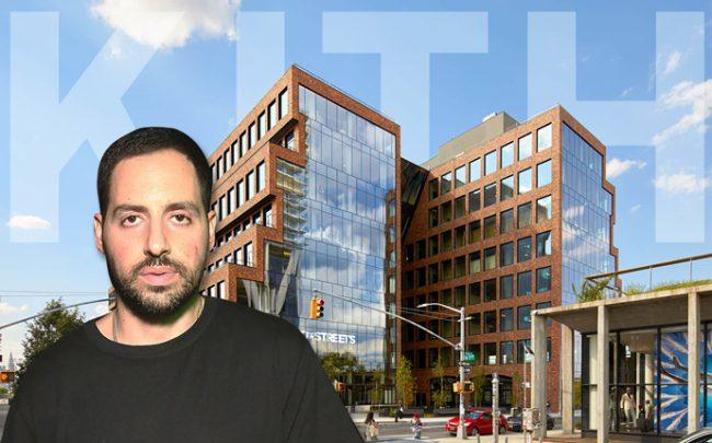 Kith Founder Ronnie Fieg, and a rendering of 25 Kent Avenue (Credit: Getty Images and Kith)