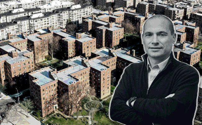 A&E Real Estate Holdings principal Douglas Eisenberg and the properties (Credit: The Rego Park 18 Portfolio)